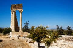 Temple Ruins, Sanctuary of Apollon Ylatis, Cyprus Royalty Free Stock Photos