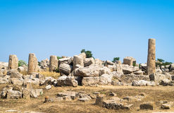 Temple ruins in Selinunte, Sicily royalty free stock image
