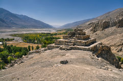 Temple ruins in Tajikistan Royalty Free Stock Images