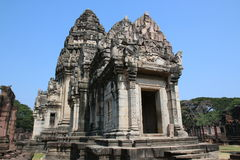 The temple ruins in Thailand. The full ancient ruins in Thailand Royalty Free Stock Photography
