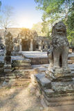 Temple ruins XII th Century  on a sunset, Siem Reap, Cambodia Stock Image