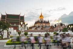 Temple rush in Bangkok Stock Photos