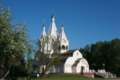 Temple of Russian new martyrs and confessors Stock Photography