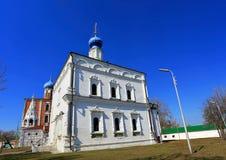 Temple in Ryazan Kremlin Royalty Free Stock Image