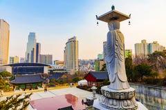 Temple Séoul de Bongeunsa photographie stock