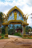 Temple's arch of Wat Samret Royalty Free Stock Image