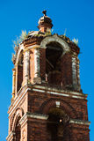 Temple's Belfry of the Holy Virgin in village Stock Image