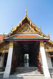 Temple's gate in grand palace. Grand palace is the Bangkok's most famous landmark which was built 1782. Within the palace complex are several impressive Stock Image