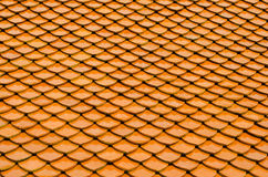 Temple's roof. Orange temple's roof  in thailand Royalty Free Stock Images