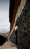 Temple's wall. A buddhism temple in tibet, china Stock Photography