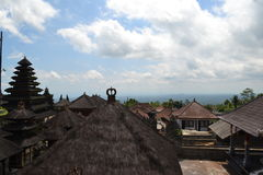 Temple sacré de Bessakih en île de Bali Photos stock