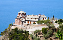 Temple of Sacred George's monastery, Athos. Orthodox Sacred George's monastery, Temple, Sacred mountain Athos, Halkidiki, Greece Stock Image