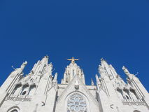 Temple of the Sacred Heart in Barcelona Royalty Free Stock Photos