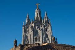 Temple of the Sacred Heart - Barcelona Stock Image