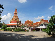 Temple. The temple is a sacred place for worship throughout Thailand Royalty Free Stock Photo