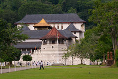 Temple of the Sacred Tooth Relic in Kandy Royalty Free Stock Photography