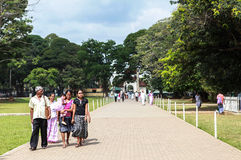 Temple of the Sacred Tooth Relic in Kandy, Srilanka Stock Image