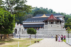 Temple of the Sacred Tooth Relic in Kandy, Srilanka Royalty Free Stock Photo