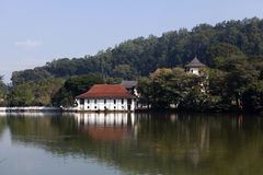 Temple of the Sacred Tooth Relic (Sri Dalada Maligwa) and Royal Bath in Kandy in Central Sri Lanka Stock Images