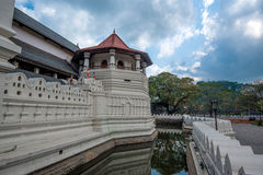 Temple of the Sacred Tooth Relic. In Sri Lanka stock photography
