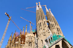 Temple Sagrada Familia.Barcelona. Royalty Free Stock Photo