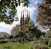 Temple of the Sagrada Familia. In Barcelona stock photos