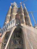 Temple of the Sagrada Familia in Barcelona Royalty Free Stock Photo