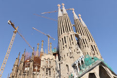 Temple Sagrada Familia- of Gaudi in Barcelona. Sp. Ain stock images