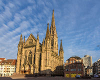 Temple Saint-Etienne of Mulhouse. Alsace, France Royalty Free Stock Photography