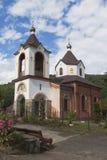 Temple of Saint George in village Lesnoye, Adlersky district Krasnodar region Stock Photos