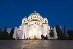 Temple of Saint Sava Stock Photo
