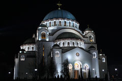 Temple of Saint Sava Stock Images