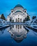 Temple of Saint Sava in belgrade stock photography