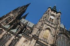 Temple of the saint Vita in Prague. Temple of the saint Vita - St. Vitus's Cathedral Stock Photo