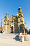 The temple of Saints Cyril and Methodius in Bulgarian Burgas royalty free stock photos
