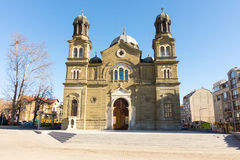 The temple of Saints Cyril and Methodius in Burgas, Bulgaria stock image