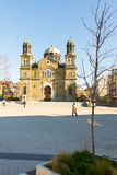 The temple of Saints Cyril and Methodius in Burgas, winter, Bulgaria stock photos