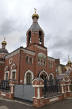 The temple for the sake of the Reverend Seraphim of Sarov. Stock Photography