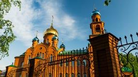 Temple for the sake of Sacred Saint Serafima Sarovsky Stock Image