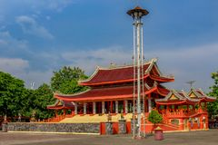 Temple of Sam Poo Kong in Central Java, Indonesia. royalty free stock photo