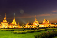 Temple Sanam Luang. Sanam Luang Thailand Night Light Royalty Free Stock Images