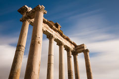 Temple of Saturn at the Forum Romanum Royalty Free Stock Images