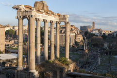 Temple of Saturn Stock Photography