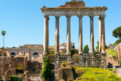 Temple of Saturn in the Roman Forum Stock Image