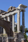 Temple of Saturn - Roman Forum - Rome - Italy Stock Image