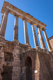 Temple of Saturn. Rome, Italy. Temple of Saturn at Imperial fora Royalty Free Stock Images