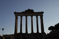 Temple of Saturn Royalty Free Stock Photos