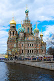 Temple of Savior on Blood on embankment of Griboedov canal, St. Petersburg, Russia Royalty Free Stock Image