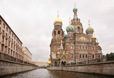 Temple of Saviour on blood in Saint Petersburg Stock Images