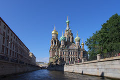 Temple of Saviour on the Blood in Saint Petersburg Stock Photo